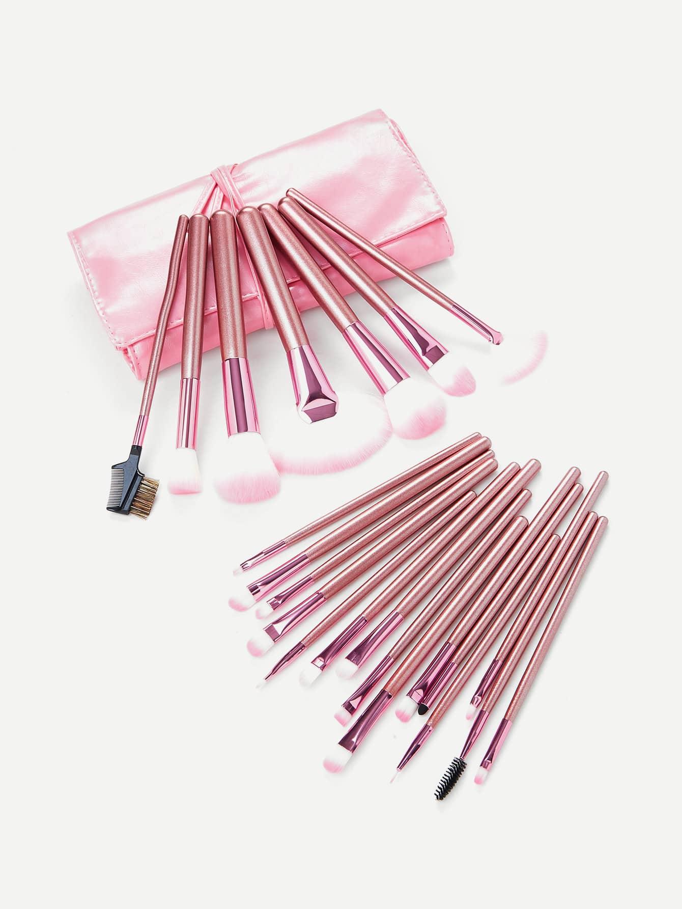 22pcs Pink Makeup Brush Set