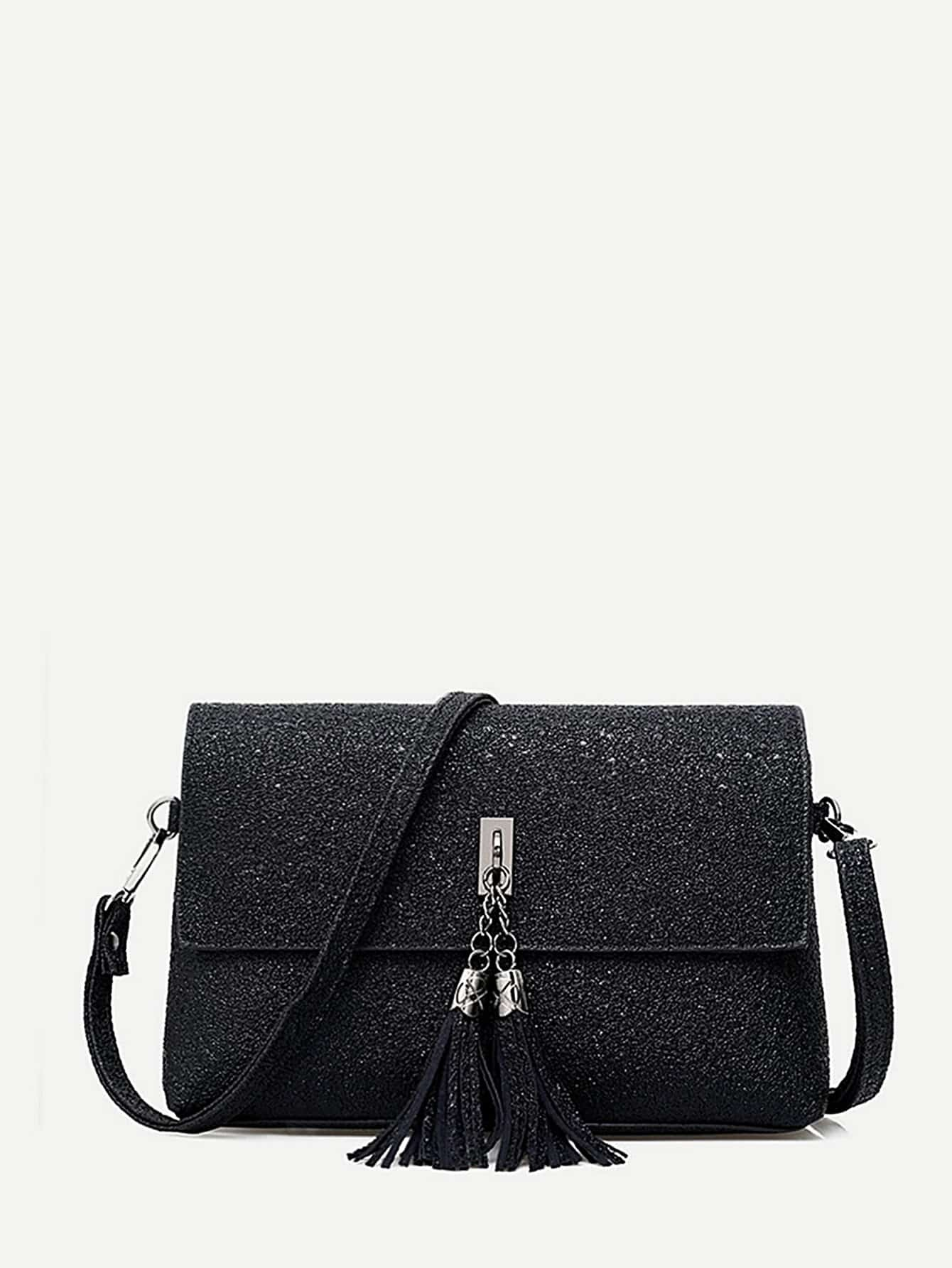 Tassel Detail Shoulder Bag tassel detail pu shoulder bag