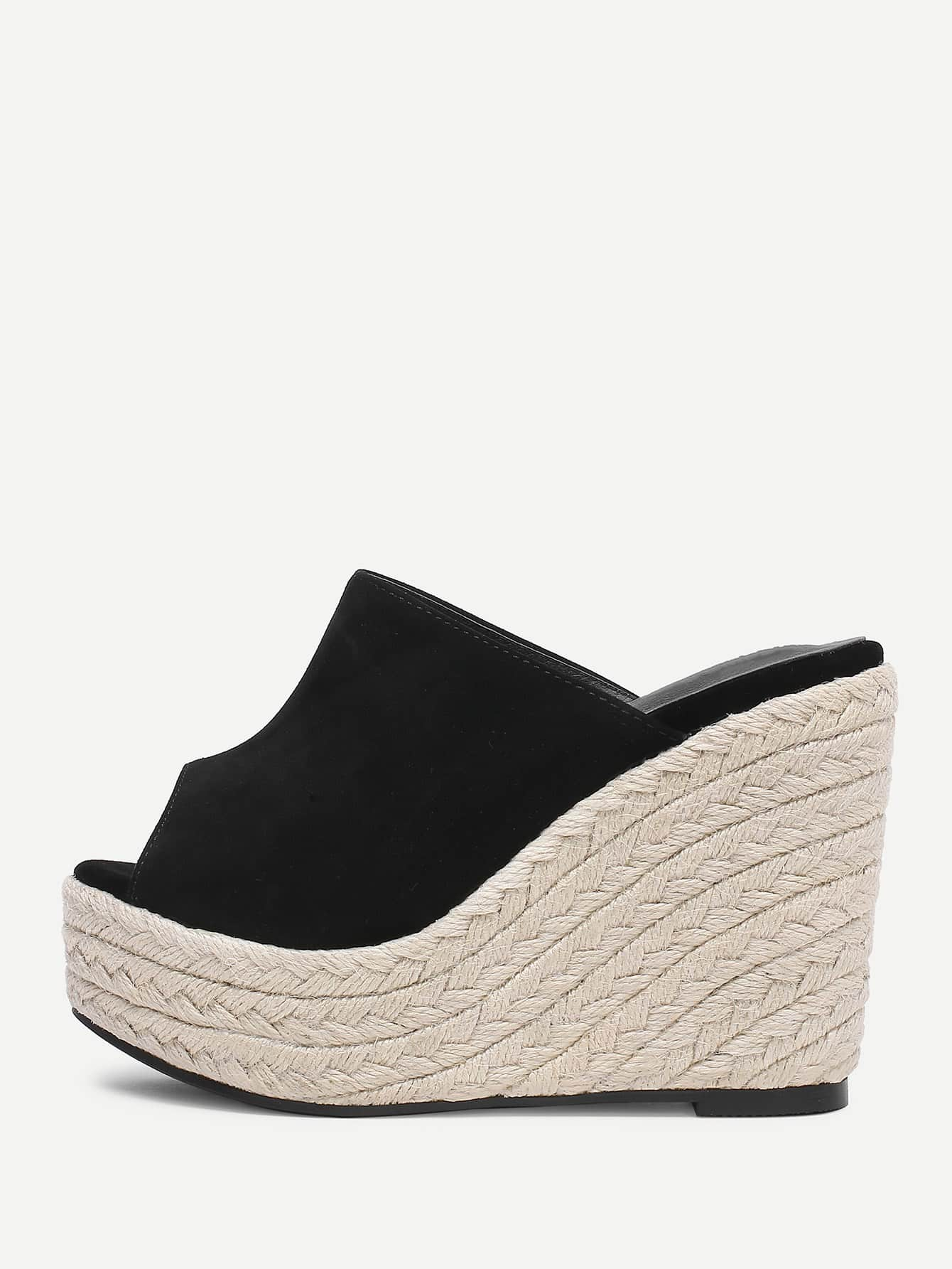 Espadrille Peep Toe Wedges цена