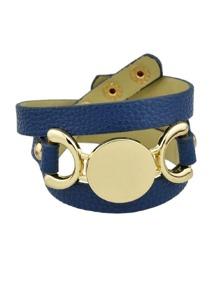 Blue Multi-Layer Winding Wide Bracelet