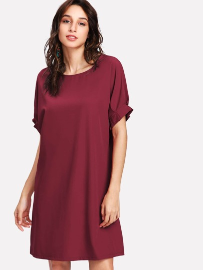 Cuff Detail Tunic Dress