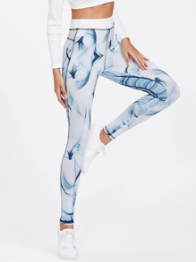 Ink Painting Print Leggings