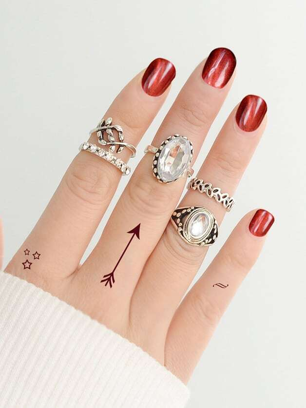 Carved Ring 5-Pieces Set