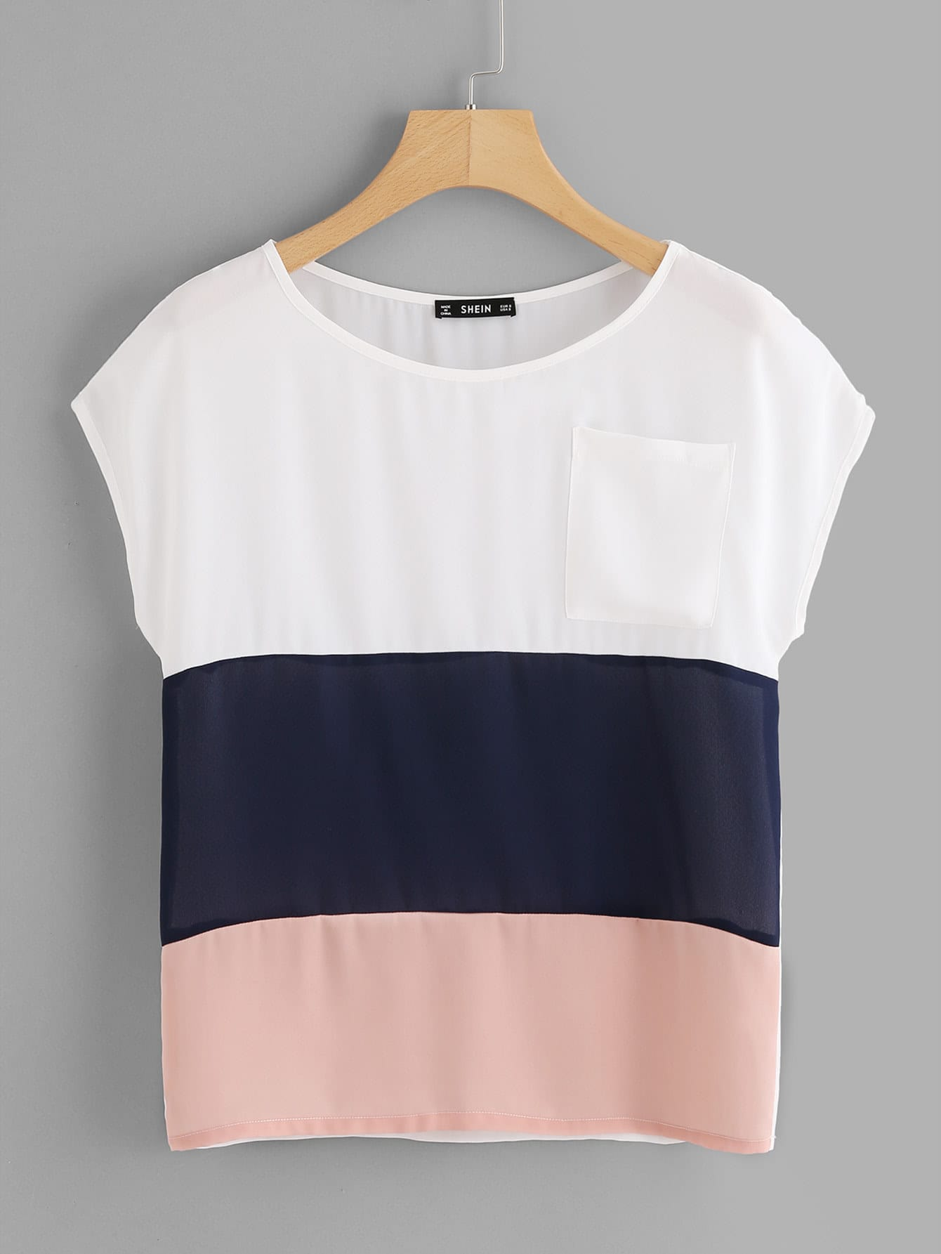 Patch Pocket Cut And Sew Top