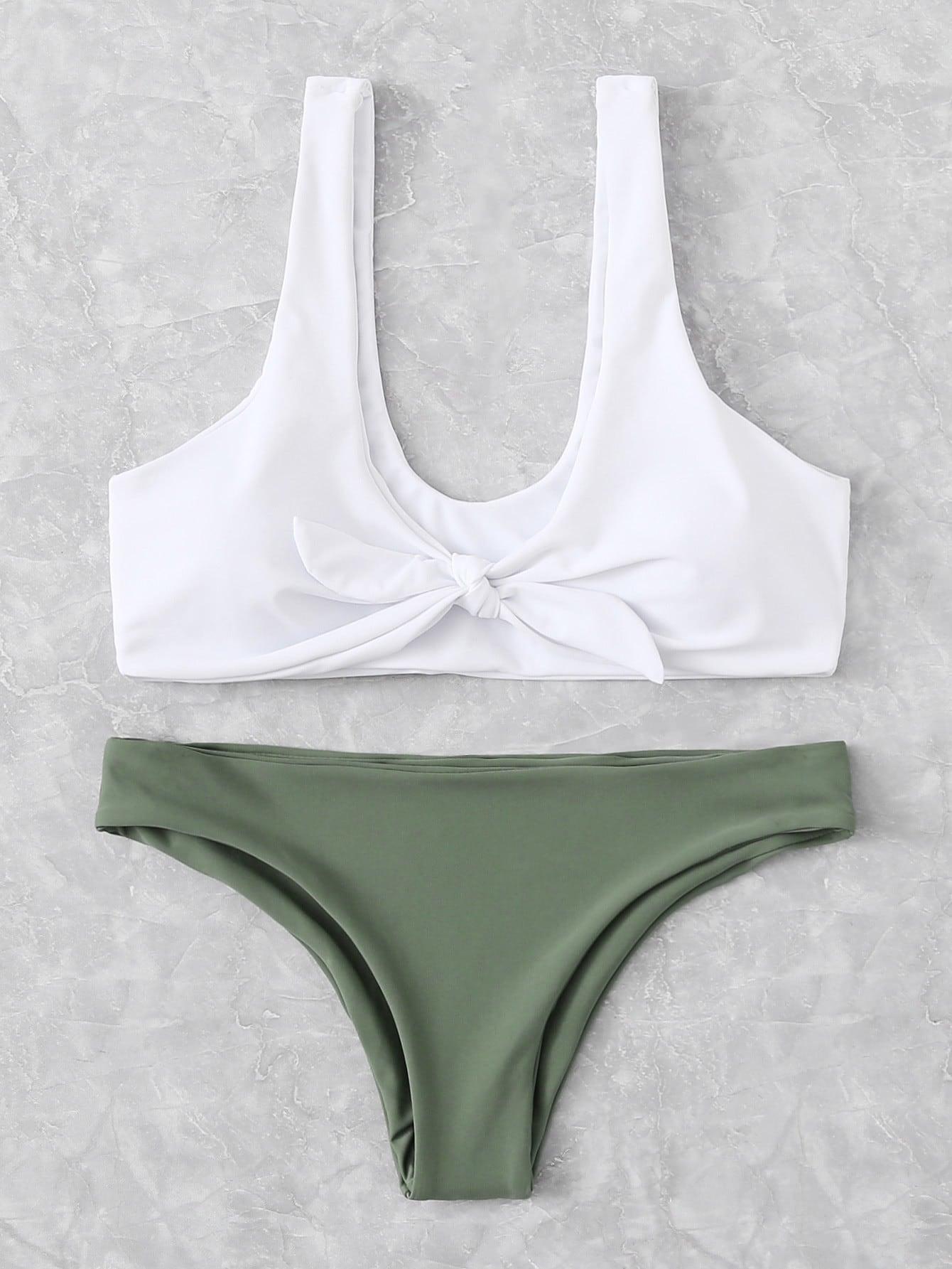 Mix And Match Knot Bikini Set cross wrap mix and match bikini set