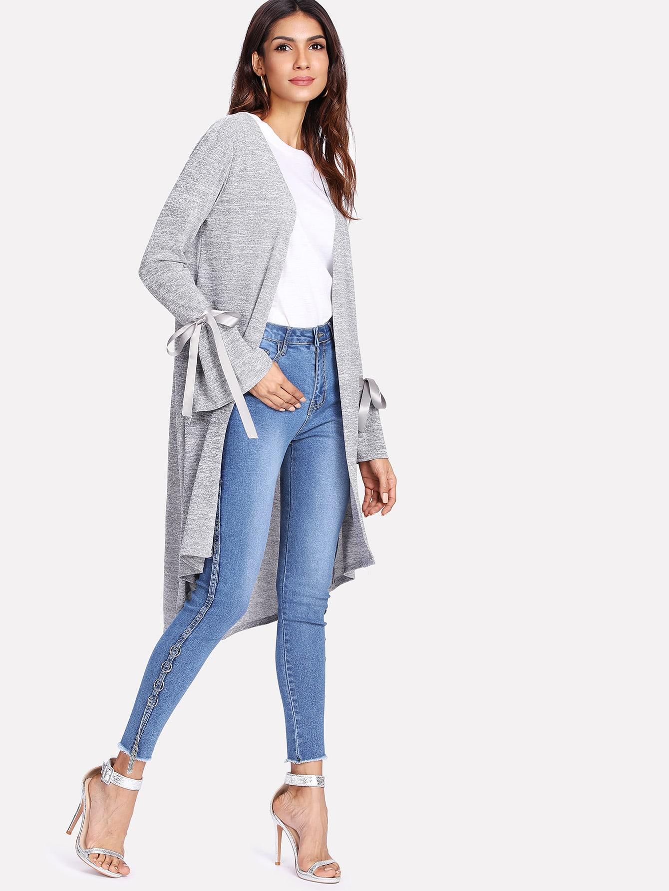 Купить Модное пальто с бантом, Laiser, SheIn