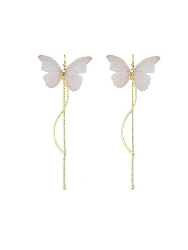 Pink Butterfly Drop Earrings For Women Brincos drop in saddlebag liners for harley touring road king electra street glide 94 13