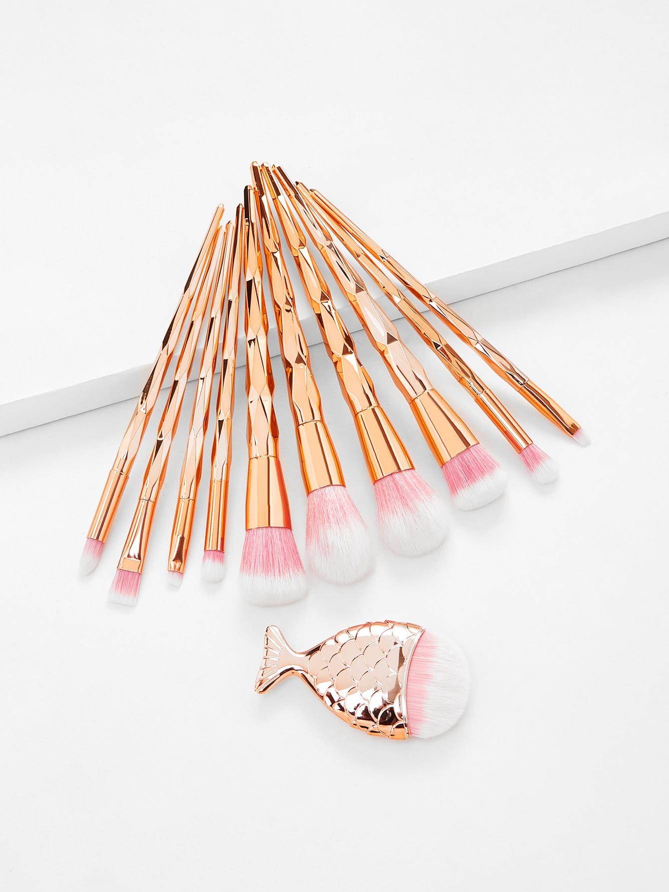 Diamond Shaped Handle Makeup Brush 11pcs