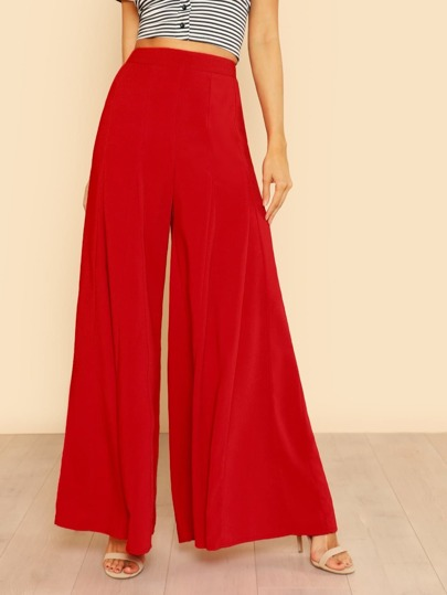 Wide Leg Pleated Palazzo Pants