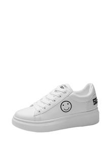 Emoji Detail Low Top Sneakers