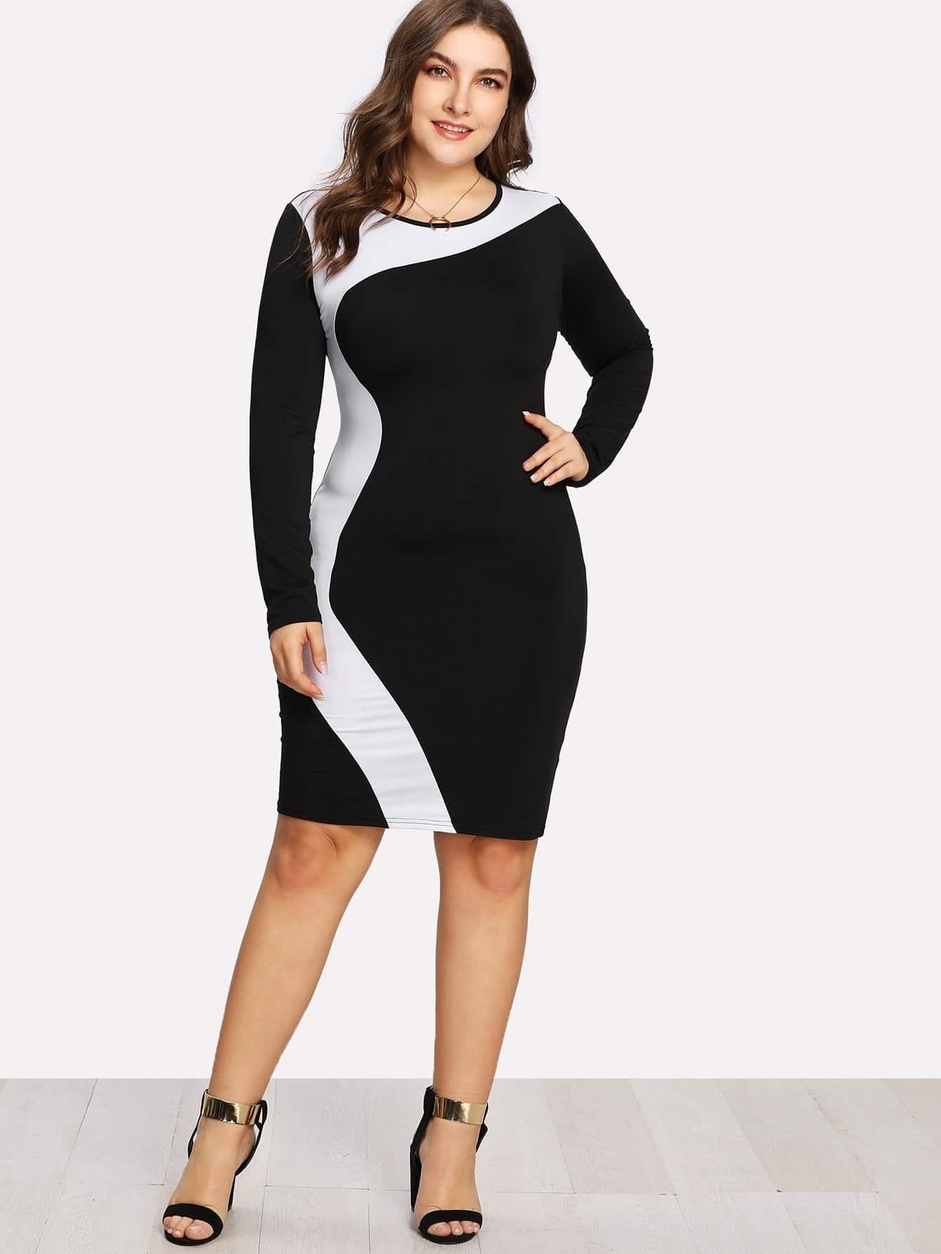 Cut And Sew Pencil Dress cut out pencil dress