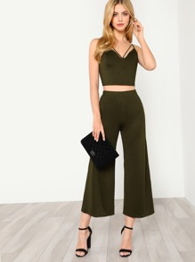 Strappy Neck Cami Top & Pants Co-Ord