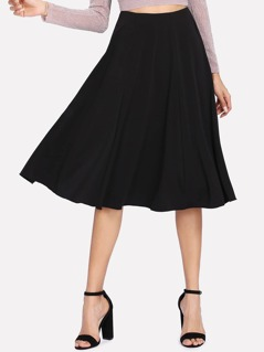 Solid A Line Skirt