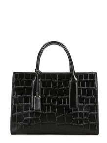 Croc Embossed Structured Bag