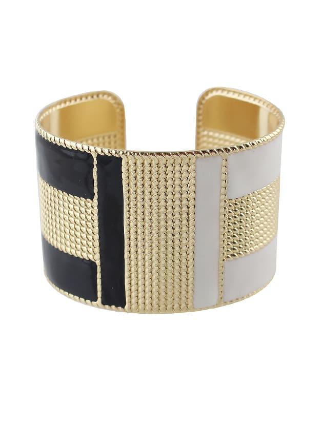Black-W Steampunk Cuff Bracelets Bangles