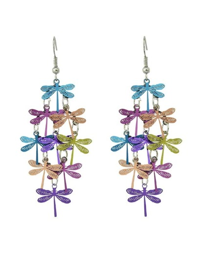 Colorful Boho Style Cute Dragonfly Party Earrings