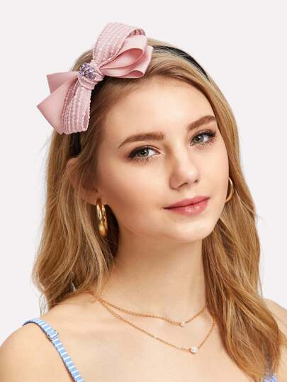 Rhinestone Bow Design Hair Tie