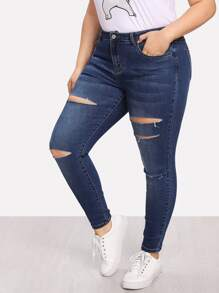 Ripped Detail Jeans