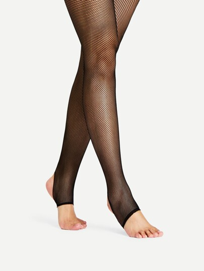 Mesh Design Stirrup Tights