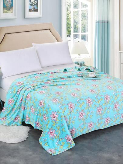 All Over Florals Plush Blanket