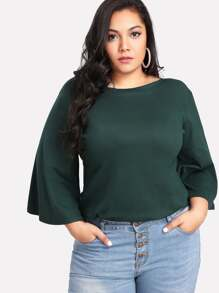 Boat Neck Bell Sleeve Tee