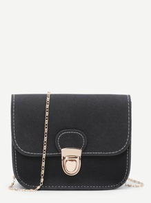 Pushlock Flap Chain Bag