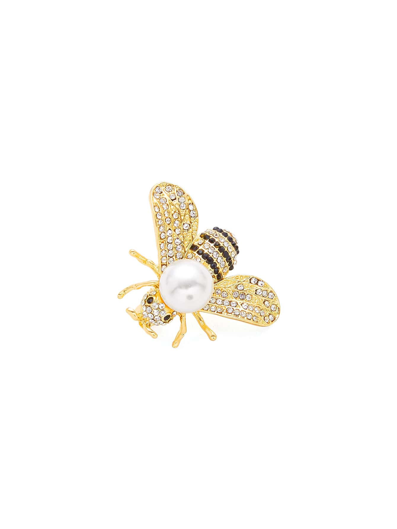 Bee Design Brooch With Jewelry