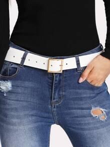 Square Metal Buckle Belt