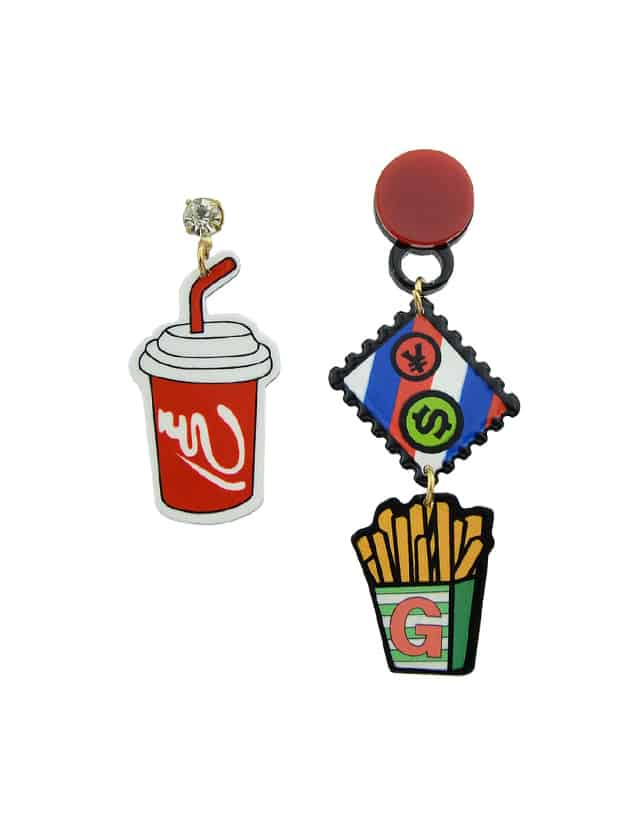 Acrylic Coke Fries Dangle Earrings