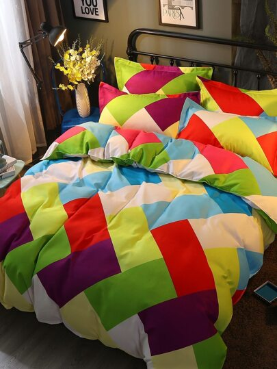 2.0m 4Pcs Geometric Print Duvet Cover Set