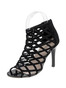 Peep Toe Caged Design Heels