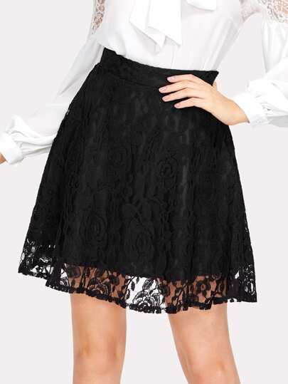 Solid Flare Skirt