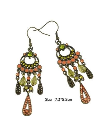 Rhinestone Water Drop Shape Chandelier Earrings