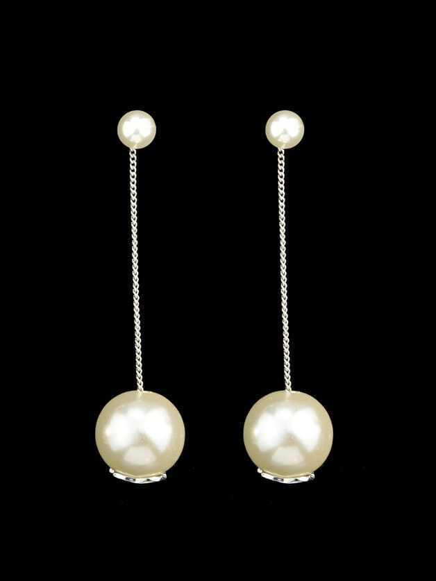 Silver Pearl Bridal Drop Earrings кордщетка атака 21781