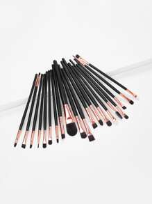 20pcs Professional Makeup Brushes Set Metal Make Up Brush Set-Black