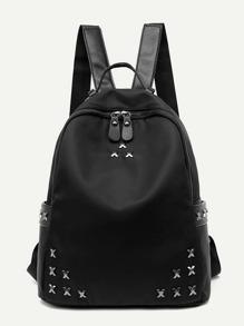 Metal Embellished Backpack