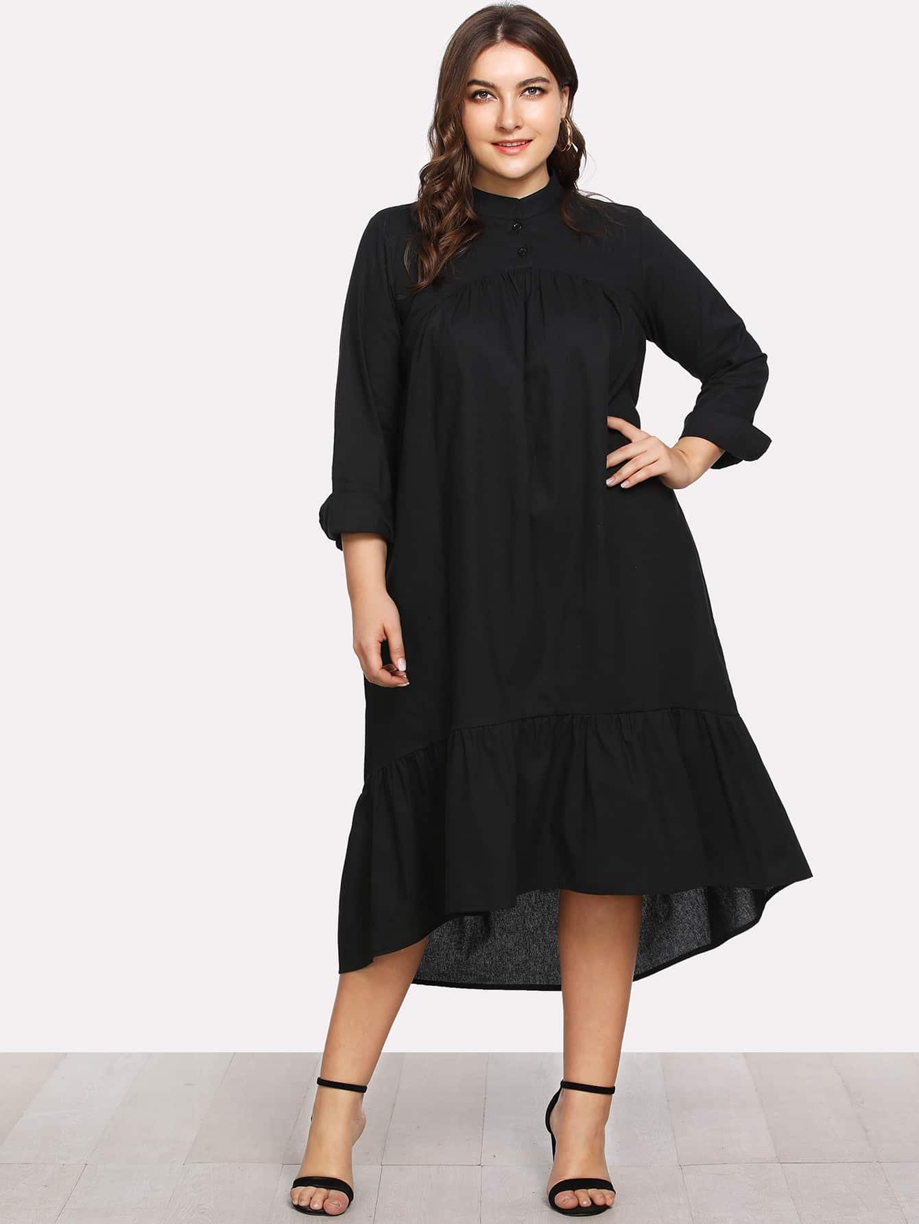 Купить Модное асимметричное платье-рубашка, Franziska, SheIn