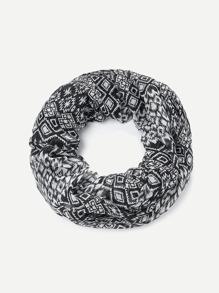 Geometric Pattern Infinity Scarf