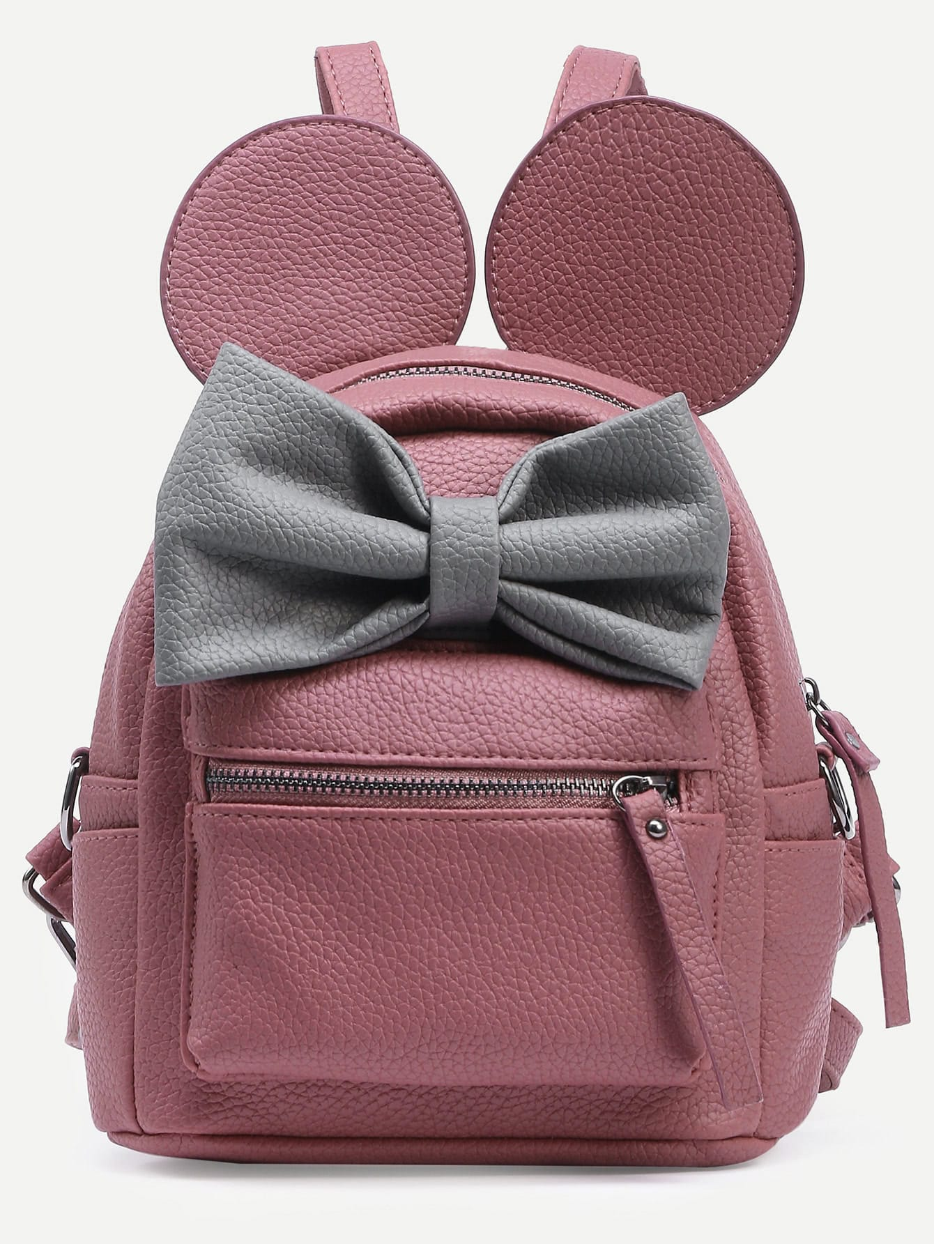 Contrast Bow Mickey Ear Backpack