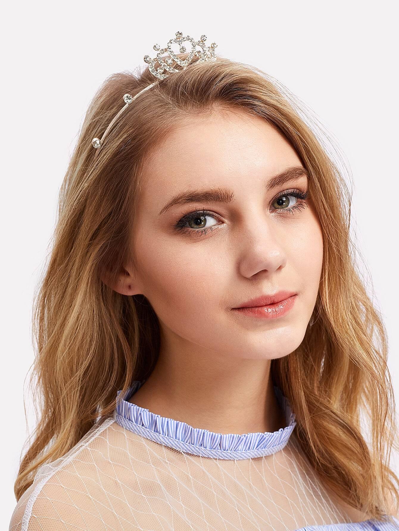 Rhinestone Crown Decorated Headband crown decorated headband
