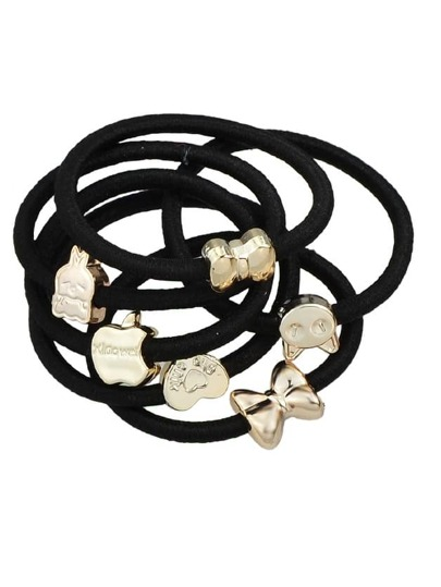 10Pcs/Set Random Shape Hair Tie