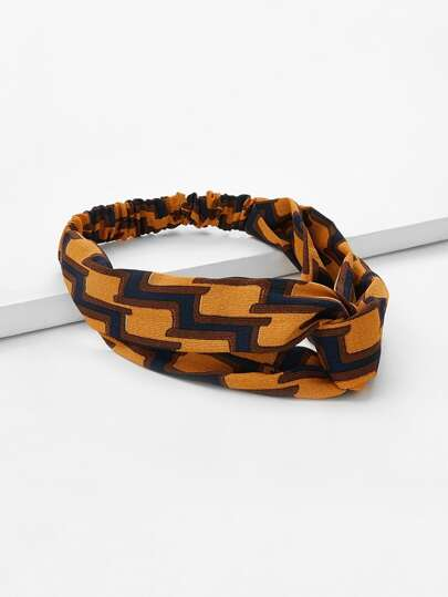 Plaid Stirnband mit Twist