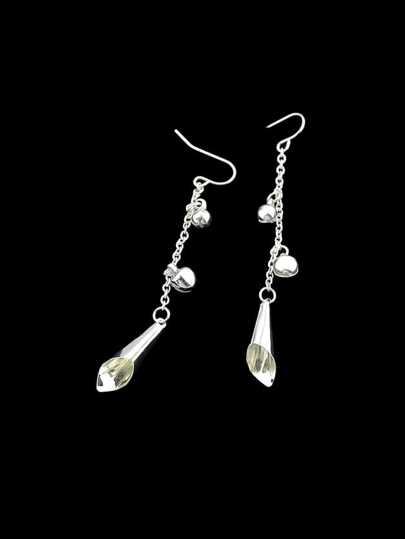 Silver Bells Charm Drop Earrings