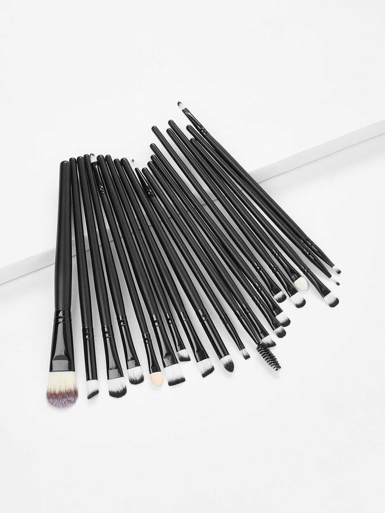 Professional Makeup 20pcs Brushes Set Powder Foundation Eyeshadow Eyeliner high quality 18pcs set cosmetic makeup brush foundation powder eyeliner professional brushes tool with roll up leather case