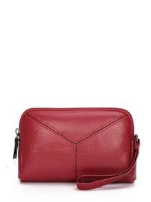 Seam Detail PU Clutch Bag