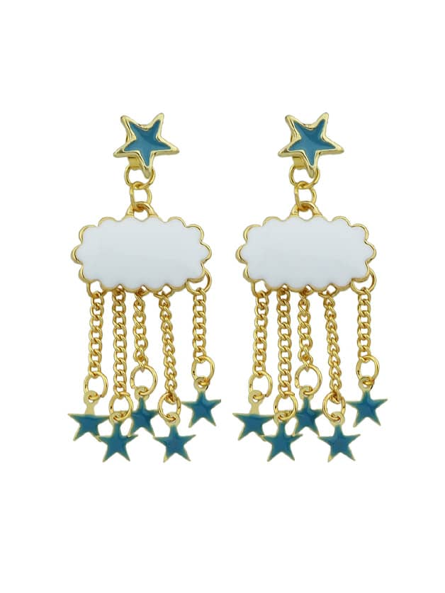 Blue Lovely Star Tassel Earrings цены онлайн