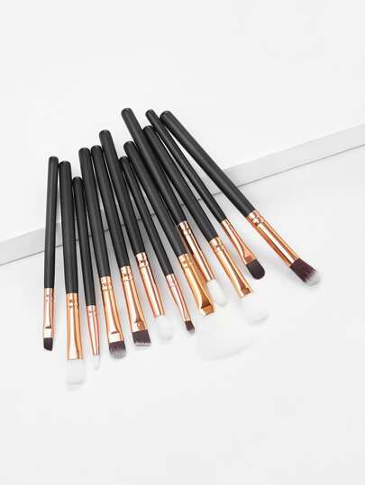 Black And Gold Eyeshadow Brush 12PCS