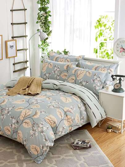 2.2m All Over Florals Print Duvet Cover