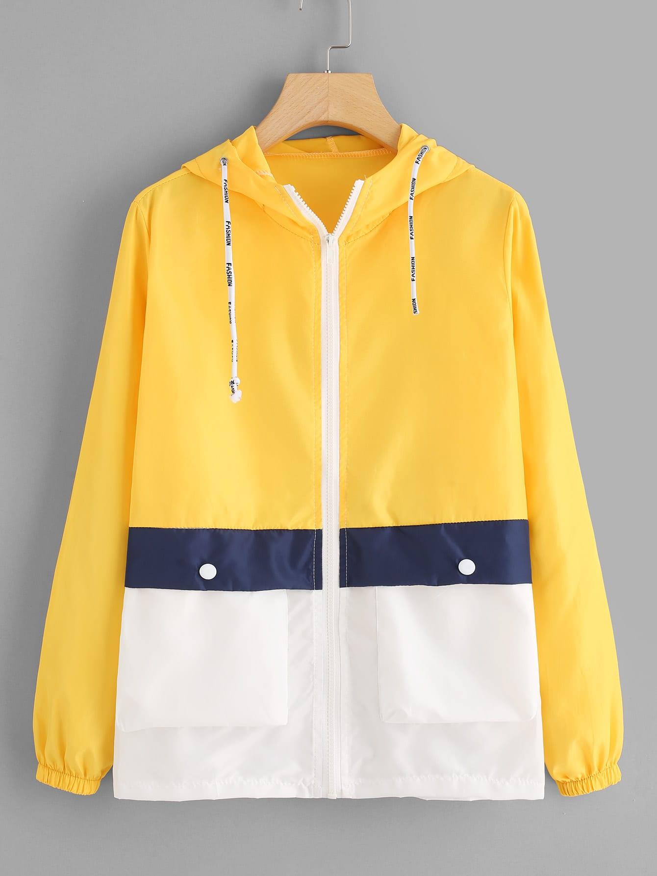 Купить Видспорта на кулиске Многоцветный Жакеты + Куртки, null, SheIn