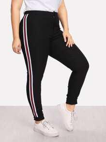 Stripe Side Skinny Pants